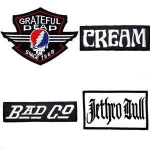 Accessories - Band Patches, Cream, Bad Co, Jethro Tull, The Dead